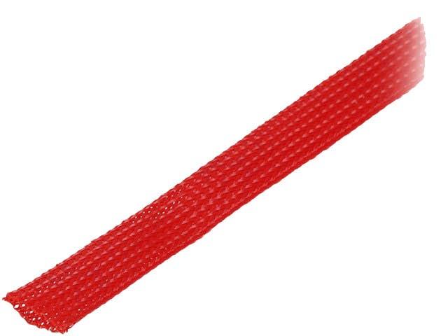 Snake skin zaščita za kable - opletena zaščita - rdeča (12 mm)