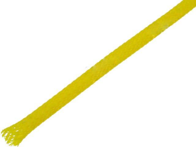 Snake skin zaščita za kable - opletena zaščita - rumena (4 mm)