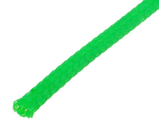 Snake skin zaščita za kable - opletena zaščita - zelena (4 mm)