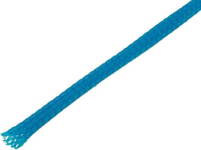 Snake skin zaščita za kable - opletena zaščita - modra (4 mm)