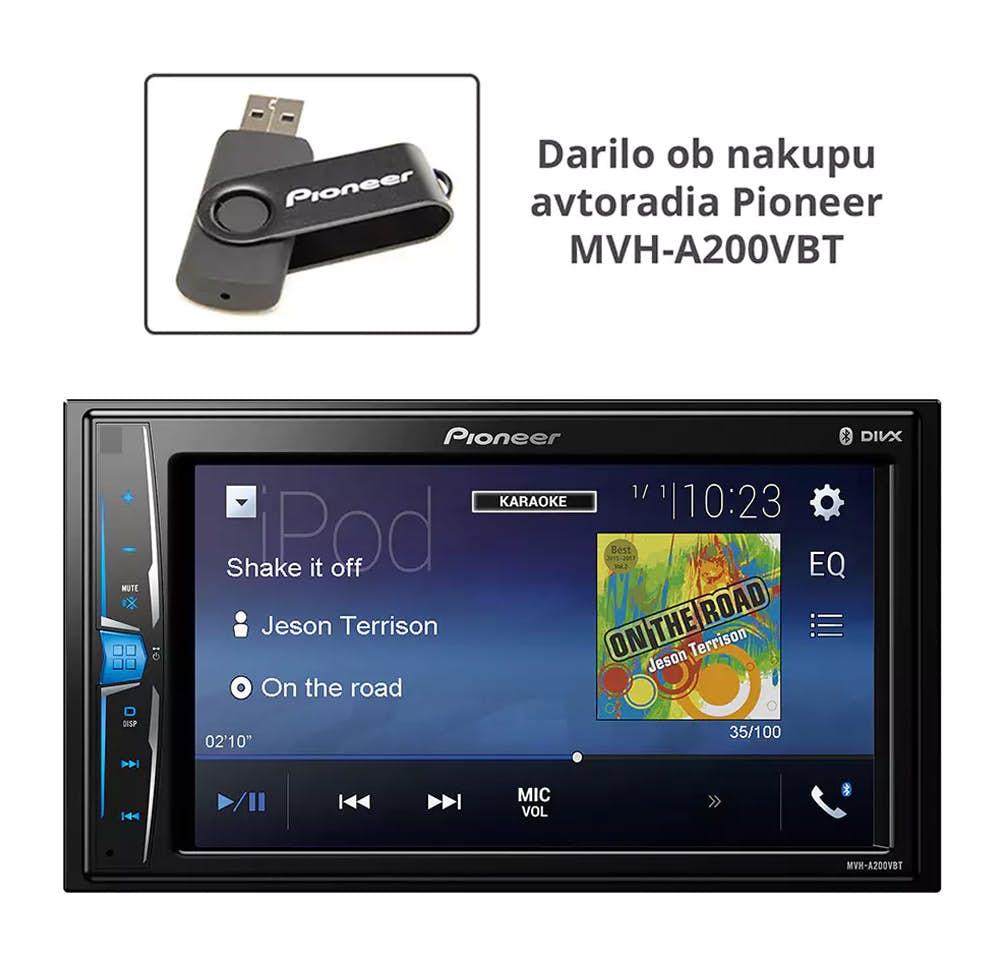 Avtoradio Pioneer MVH-A200VBT + darilo