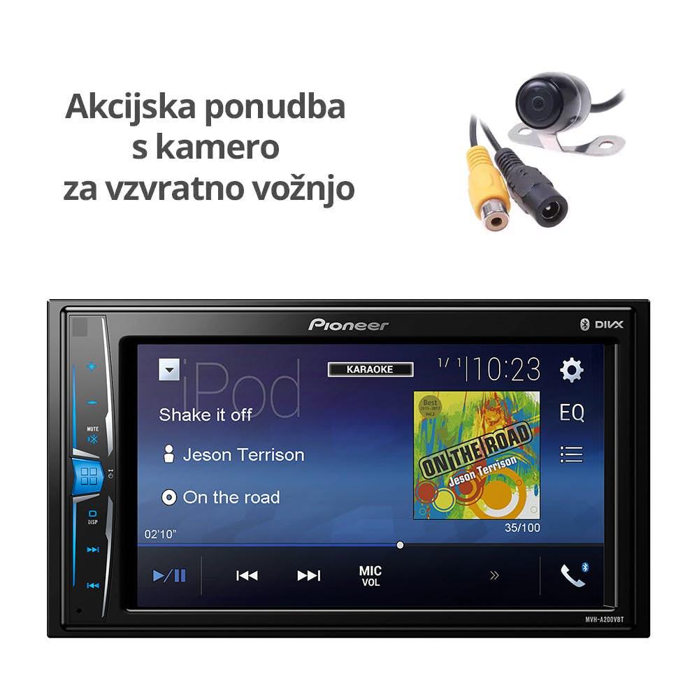 Avtoradio Pioneer MVH-A200VBT + Kamera