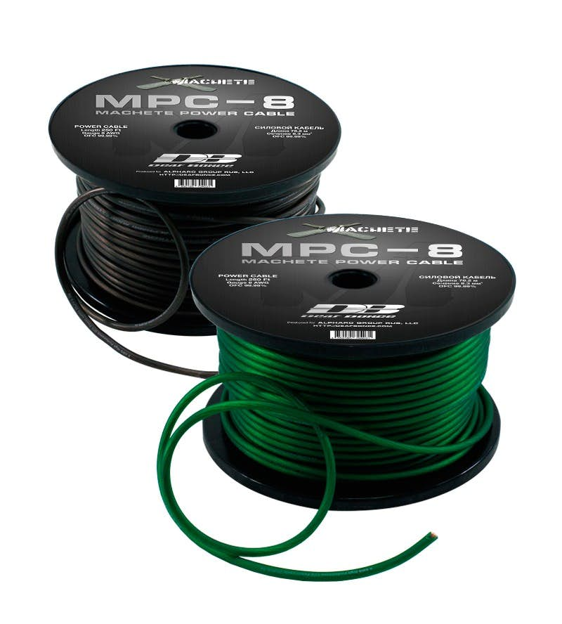 Napajalni kabel 10 mm2 (zelen - plus) (99,99% baker)