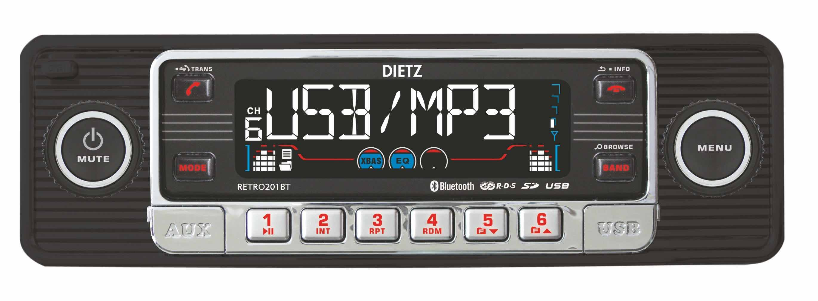 Avtoradio Dietz RETRO201BT