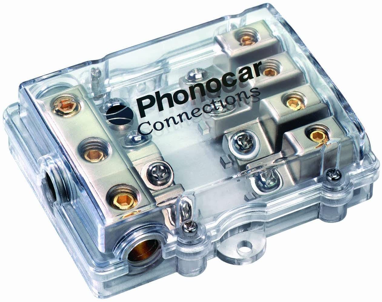 Razdelilni blok - Phonocar  za štiri mini-ANL varovalke