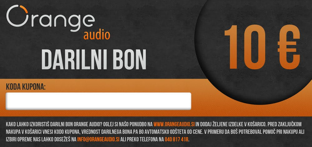 Darilni bon Orange Audio